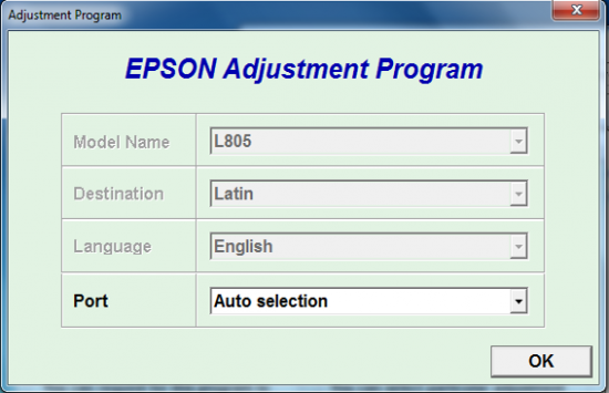 برنامه ریست اپسون L805