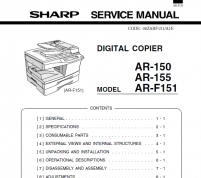 سرویس منوال شارپ AR-150 -F 151 – 155