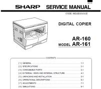 سرویس منوال شارپ AR-M160-M205-M160-M161