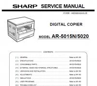 سرویس منوال شارپ AR-5015 – 5020