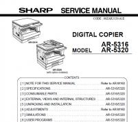 سرویس منوال شارپ AR-5316_5320