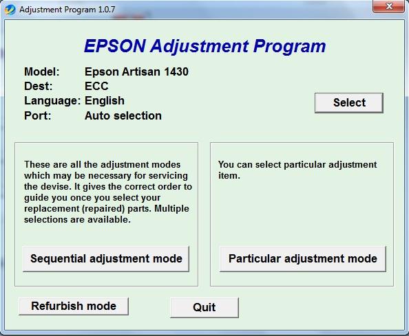 برنامه ریست اپسون Artisan 1430 (2)