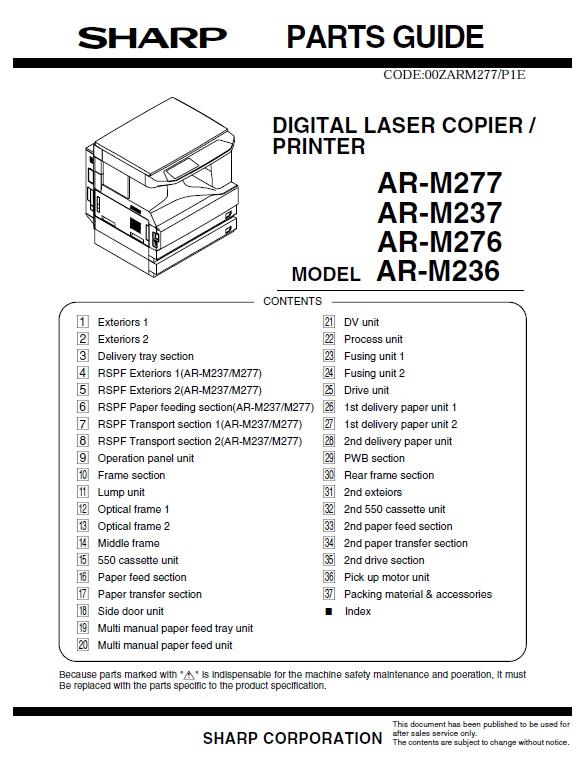 سرویس منوال شارپ AR-M236_M276_M237_M277 (2)