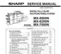 سرویس منوال شارپ MX-5500N-6200N-7000N