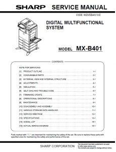 سرویس منوال شارپ mx-b401 (کپی)