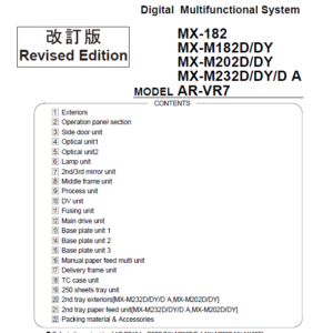 سرویس منوال شارپ MX-M182D-M202D-232D