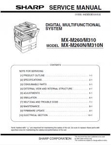 سرویس منوال شارپ MX-M260_MX-M310