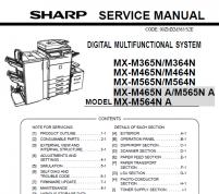 سرویس منوال شارپ MX-M365N-M364N-M465N-M464N-M565N