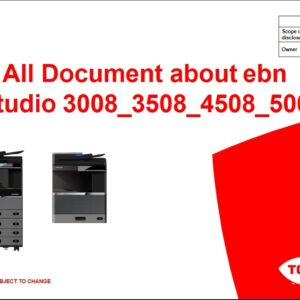 اسناد فنی e-studio 3008_4508_5008 به غیر از سرویس منوال