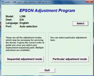 برنامه ریست L386 اپسون